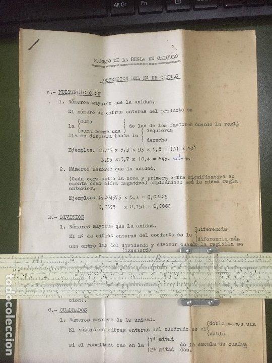 Antigüedades: REGLA CALCULO PICKETT Periodo 1950-58, Mod 500, Ortho-Phase Log Log SLIDE RULE - Foto 10 - 176573503