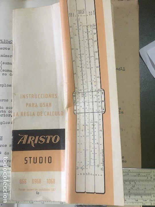 Antigüedades: REGLA CALCULO PICKETT Periodo 1950-58, Mod 500, Ortho-Phase Log Log SLIDE RULE - Foto 12 - 176573503