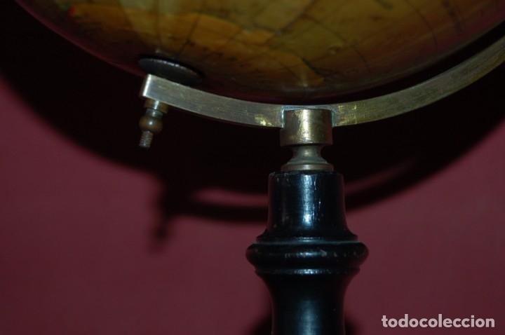 Antigüedades: GLOBO TERRÁQUEO POLÍTICO INGLÉS ( BOLA DEL MUNDO ) GEOGRAPHIA, 20 CM, AÑO 1930 - Foto 5 - 176573589