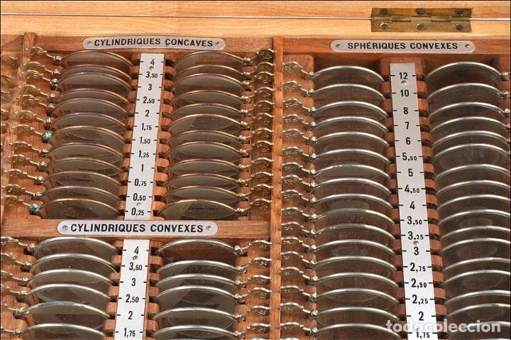 Antigüedades: Antiguo Estuche de Lentes para Óptico. Francia, Años 50 - Foto 5 - 176574292