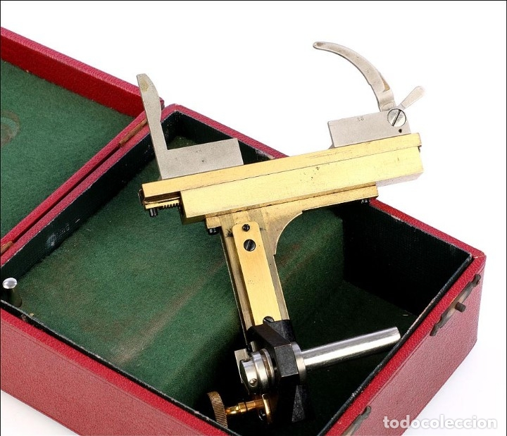 Antigüedades: Antigua Pletina Mecánica Para Microscopio Reichert. Austria, Circa 1920 - Foto 8 - 176574527