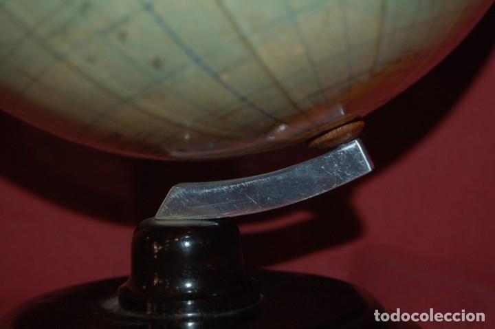 Antigüedades: GLOBO TERRÁQUEO POLÍTICO ALEMÁN ( BOLA DEL MUNDO) RÄTHS, 20 CM, AÑO 1960 - Foto 4 - 176577379