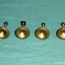 Antigüedades: 4 TIRADORES DE ALUMINIO AÑOS 60 VINTAGE. Lote 176608880