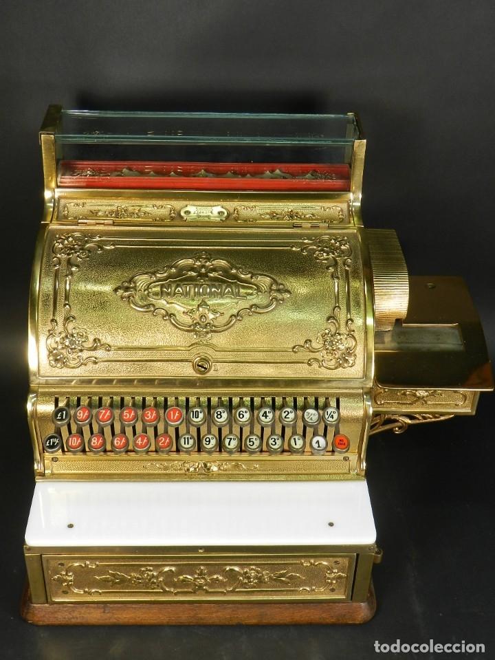 CAJA REGISTRADORA NATIONAL 345-G AÑO 1895 (Antigüedades - Técnicas - Aparatos de Cálculo - Cajas Registradoras Antiguas)