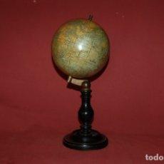 Antigüedades: GLOBO TERRÁQUEO POLÍTICO FRANCÉS (BOLA DEL MUNDO) THOMAS, 14 CM, AÑO 1890. Lote 176680290