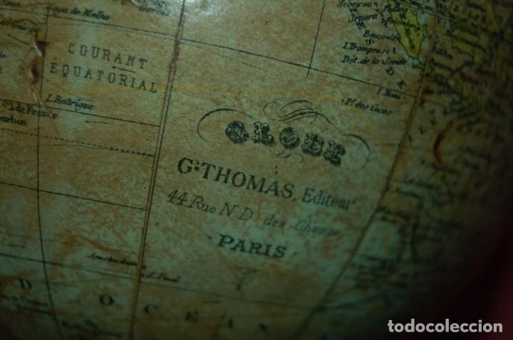 Antigüedades: GLOBO TERRÁQUEO POLÍTICO FRANCÉS (BOLA DEL MUNDO) THOMAS, 14 CM, AÑO 1890 - Foto 6 - 176680290