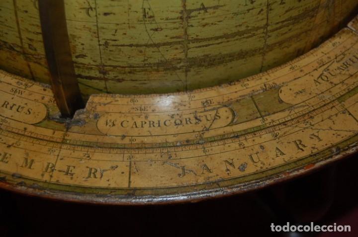 Antigüedades: GLOBO TERRÁQUEO POLÍTICO INGLÉS (BOLA DEL MUNDO ) CARY, 30 CM, AÑO 1820 - Foto 9 - 176685998