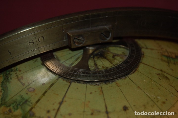 Antigüedades: GLOBO TERRÁQUEO POLÍTICO INGLÉS (BOLA DEL MUNDO ) CARY, 30 CM, AÑO 1820 - Foto 11 - 176685998