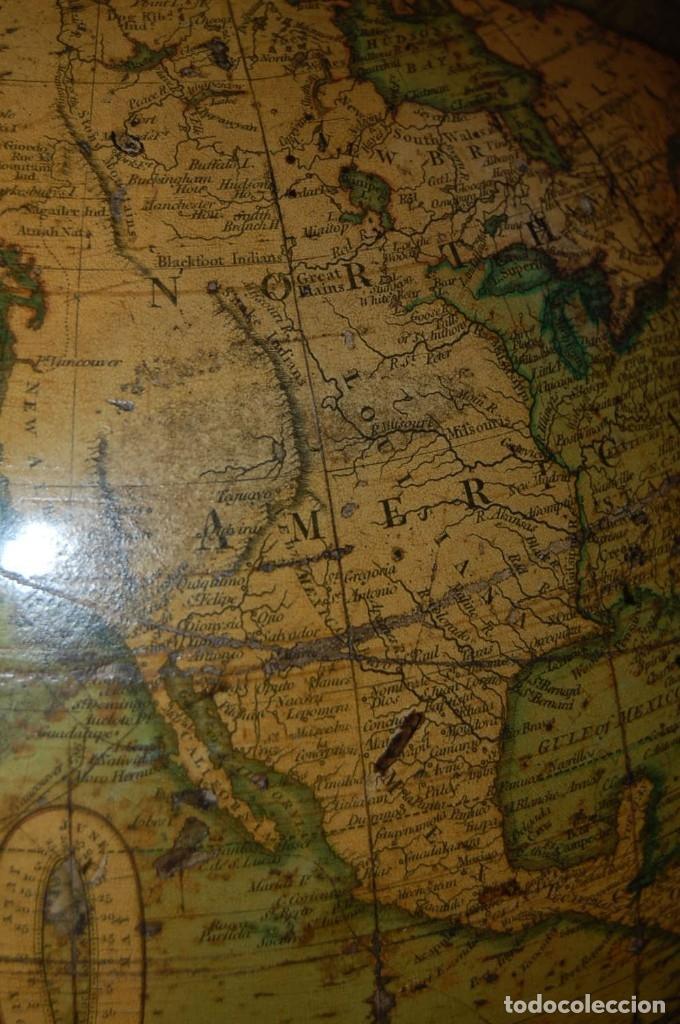 Antigüedades: GLOBO TERRÁQUEO POLÍTICO INGLÉS (BOLA DEL MUNDO ) CARY, 30 CM, AÑO 1820 - Foto 12 - 176685998