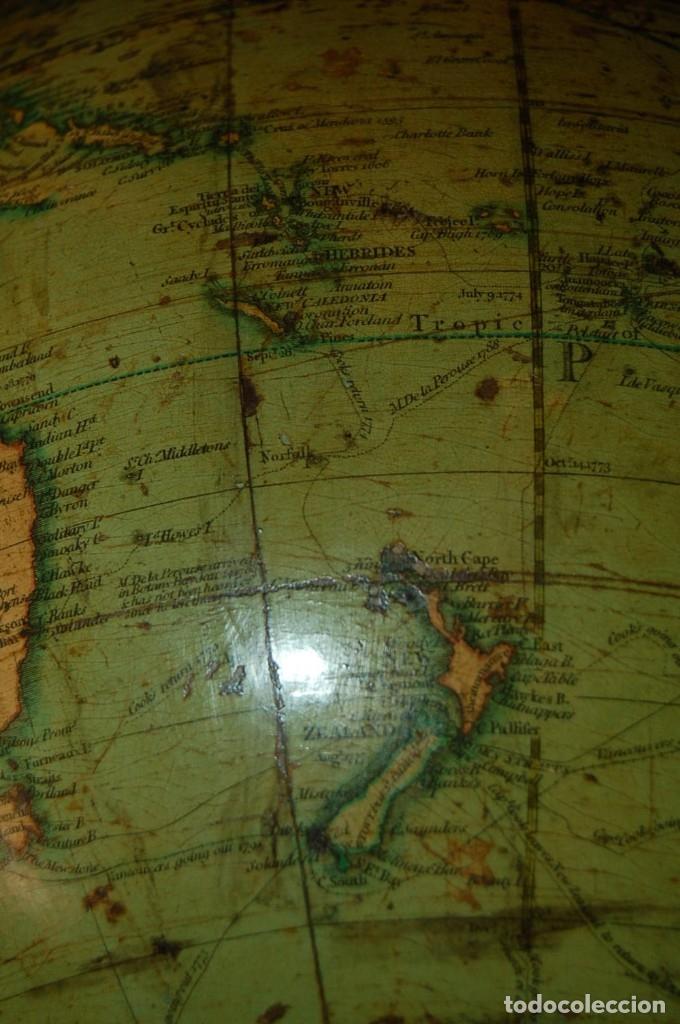 Antigüedades: GLOBO TERRÁQUEO POLÍTICO INGLÉS (BOLA DEL MUNDO ) CARY, 30 CM, AÑO 1820 - Foto 23 - 176685998
