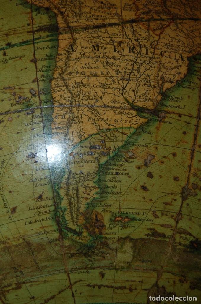 Antigüedades: GLOBO TERRÁQUEO POLÍTICO INGLÉS (BOLA DEL MUNDO ) CARY, 30 CM, AÑO 1820 - Foto 24 - 176685998