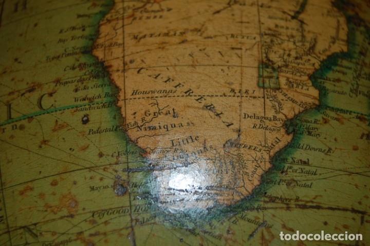 Antigüedades: GLOBO TERRÁQUEO POLÍTICO INGLÉS (BOLA DEL MUNDO ) CARY, 30 CM, AÑO 1820 - Foto 25 - 176685998