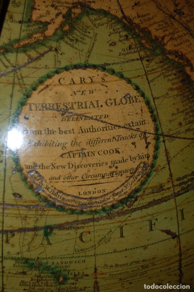 Antigüedades: GLOBO TERRÁQUEO POLÍTICO INGLÉS (BOLA DEL MUNDO ) CARY, 30 CM, AÑO 1820 - Foto 30 - 176685998