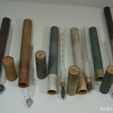Antigüedades: ANTIGUA COLECCIÓN DE 6 DENSÍMETROS Y SIMILARES. Lote 176691573