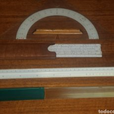 Antigüedades: LOTE DE 3 REGLAS FABER CASTELL VER FOTOS Y DESCRIPCIÓN. Lote 176732100