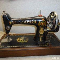 Antigüedades: MAQUINA DE COSER A MANIVELA FLOR DE LOTO. Lote 176779832