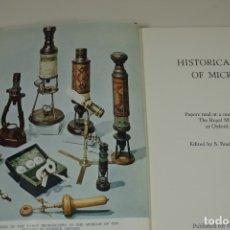 Antigüedades: MICROSCOPIOS ANTIGUOS 'HISTORICAL ASPECTS OF MICROSCOPY' 1967. Lote 176826624