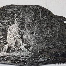 Antigüedades: TAMPON METÁLICO-CLICHE IMPRENTA MOTIVO TAURINO RARO . Lote 176834594