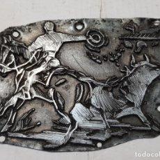 Antigüedades: TAMPON METÁLICO-CLICHE IMPRENTA MOTIVO TAURINO RARO . Lote 176834867