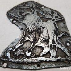 Antigüedades: TAMPON METÁLICO-CLICHE IMPRENTA MOTIVO TAURINO RARO . Lote 176836028