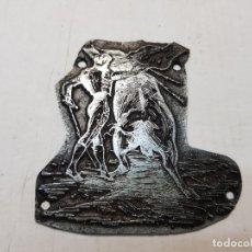 Antigüedades: TAMPON METÁLICO-CLICHE IMPRENTA MOTIVO TAURINO RARO . Lote 176836293