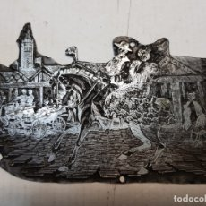 Antigüedades: TAMPON METÁLICO-CLICHE IMPRENTA MOTIVO SEVILLA-FERIA ABRIL- RARO . Lote 176836698