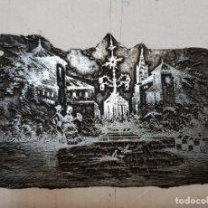 Antigüedades: TAMPON METÁLICO-CLICHE IMPRENTA MOTIVO SEVILLA-FERIA ABRIL- RARO . Lote 176837072