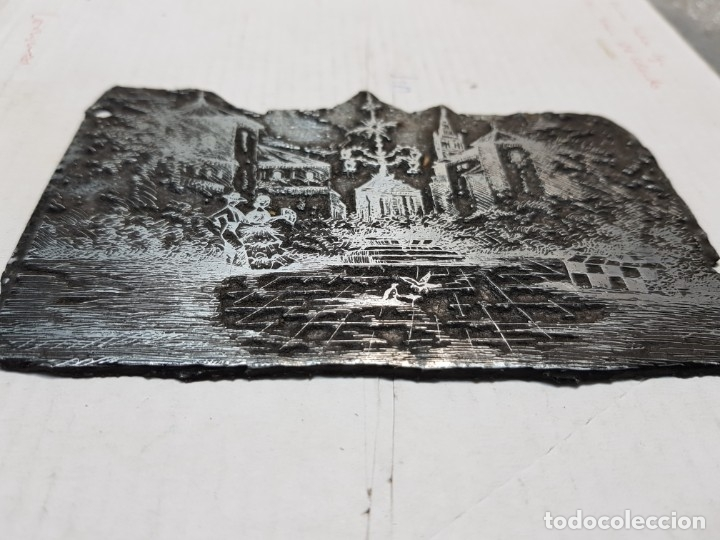 Antigüedades: Tampon metálico-Cliche Imprenta motivo Sevilla-Feria Abril- raro - Foto 3 - 176837072