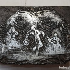 Antigüedades: TAMPON METÁLICO-CLICHE IMPRENTA MOTIVO SEVILLA-FERIA ABRIL- RARO . Lote 176838810