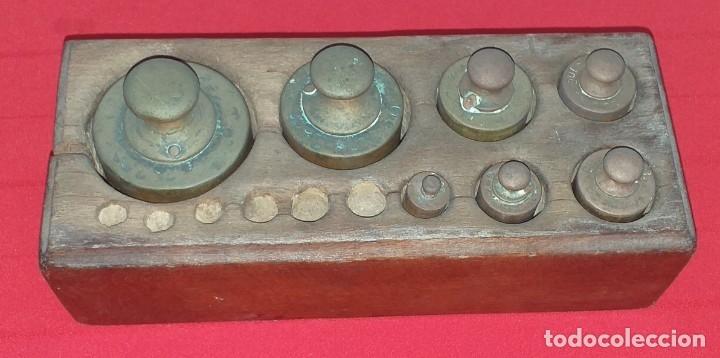 Antigüedades: JUEGO DE PESAS - Foto 2 - 176882810