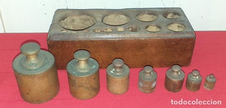Antigüedades: JUEGO DE PESAS - Foto 3 - 176882810