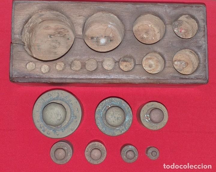 Antigüedades: JUEGO DE PESAS - Foto 4 - 176882810