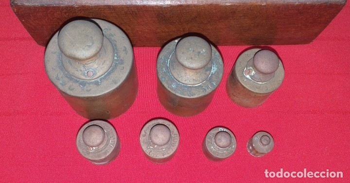 Antigüedades: JUEGO DE PESAS - Foto 5 - 176882810