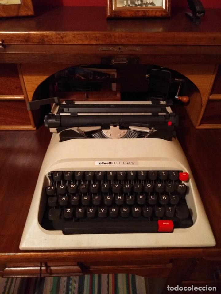 MAQUINA DE ESCRIBIR OLIVETTI LETTERA 12 (Antigüedades - Técnicas - Máquinas de Escribir Antiguas - Olivetti)