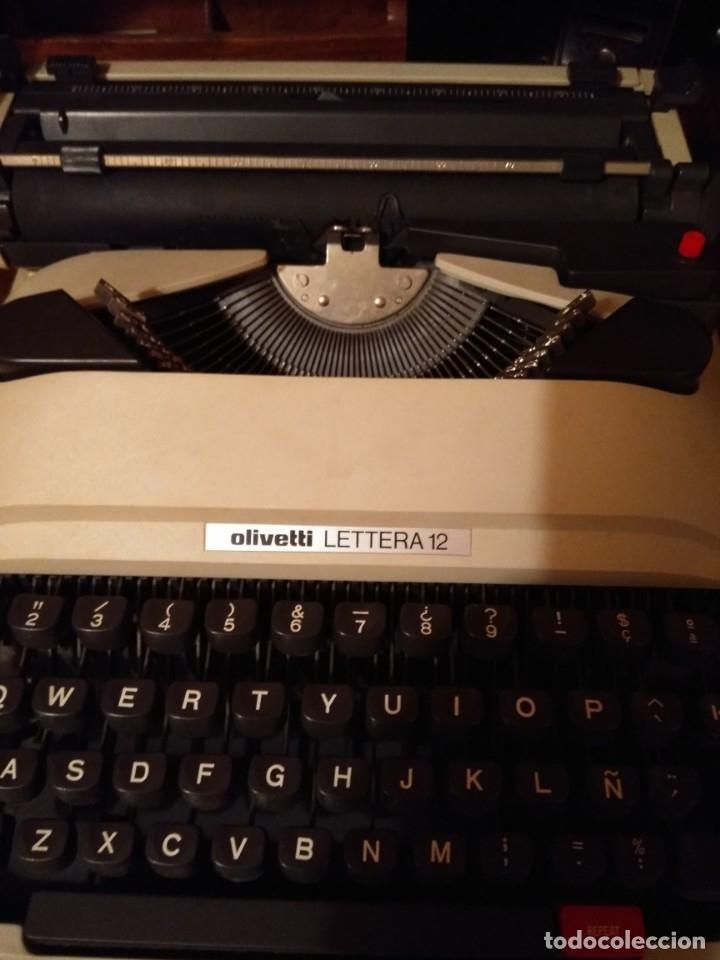 Antigüedades: Maquina de escribir Olivetti lettera 12 - Foto 2 - 176901655
