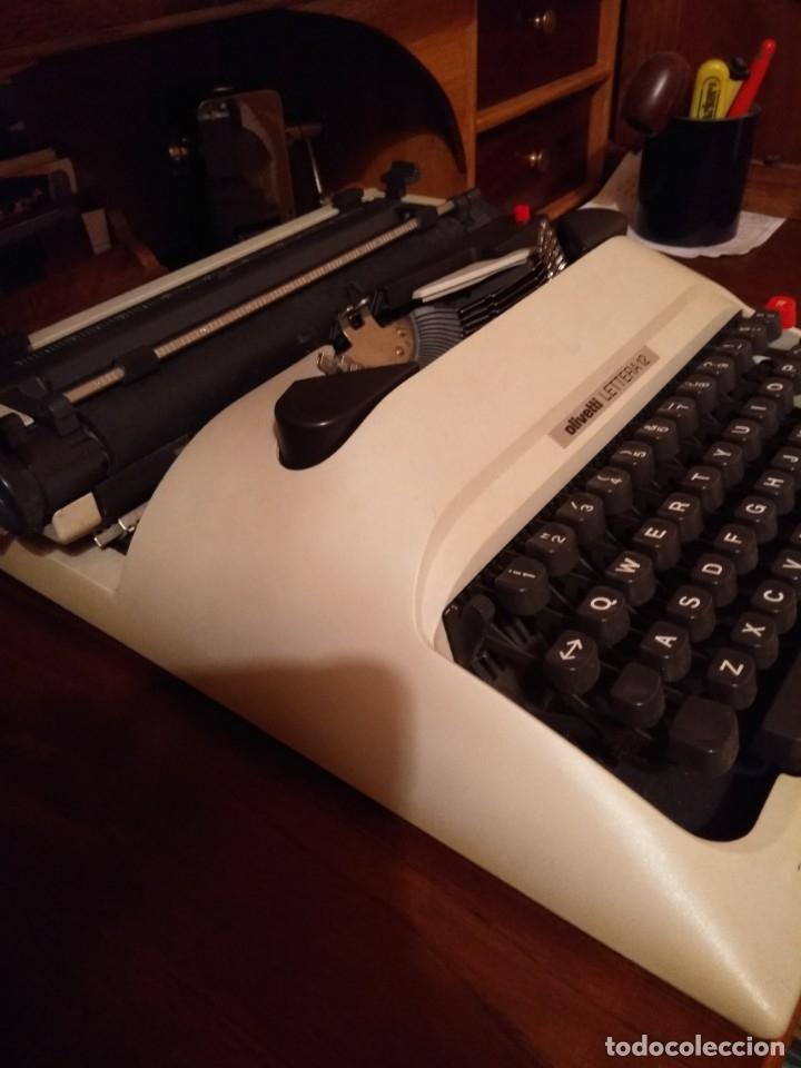 Antigüedades: Maquina de escribir Olivetti lettera 12 - Foto 4 - 176901655