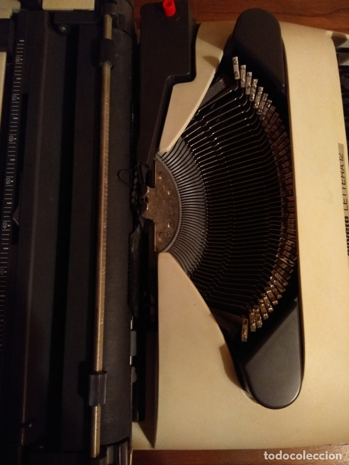 Antigüedades: Maquina de escribir Olivetti lettera 12 - Foto 6 - 176901655