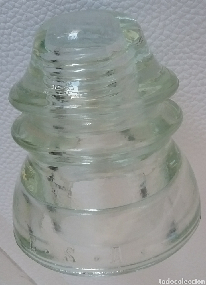 Antigüedades: AISLADOR JIGARA de vidrio. - Foto 3 - 176991714