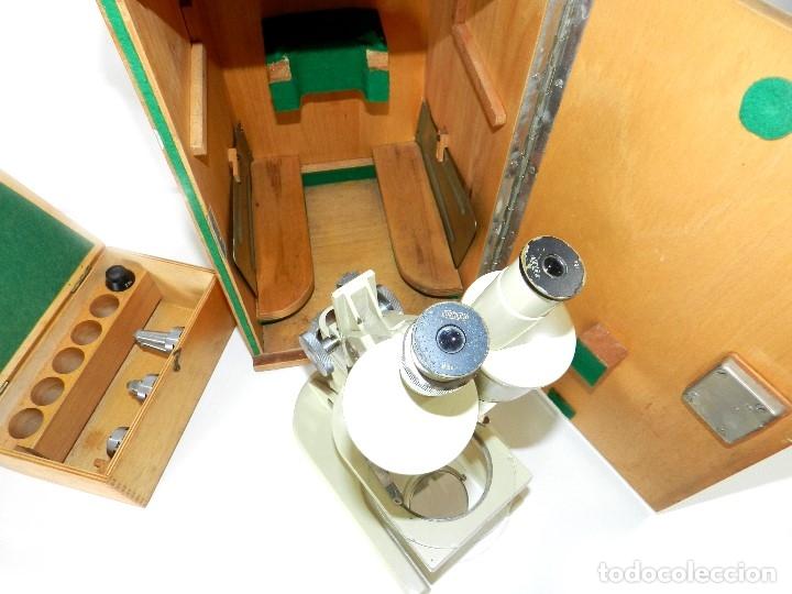 Antigüedades: Microscopio Meopta - Foto 5 - 177024593