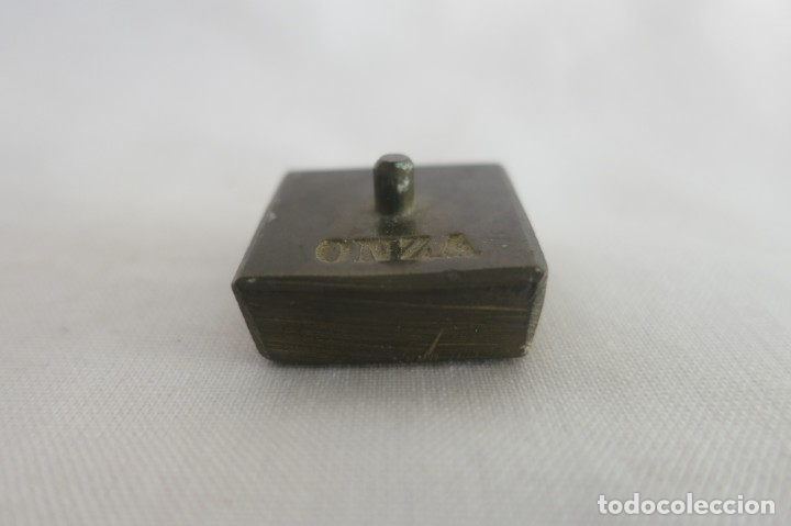 PESA MONETARIA DE 1 ONZA (Antigüedades - Técnicas - Medidas de Peso - Ponderales Antiguos)