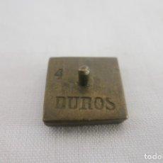 Antiquités: PESA MONETARIA DE 4 DUROS. Lote 177066437
