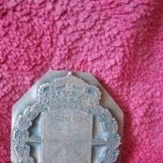 Antigüedades: SELLO O TROQUEL DE COBRE, ESCUDO DE NAVARRA. Lote 177129238
