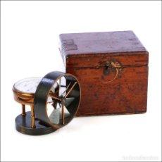 Antigüedades: ANTIGUO ANEMÓMETRO EN SU ESTUCHE. INGLATERRA, CIRCA 1900. Lote 177184439