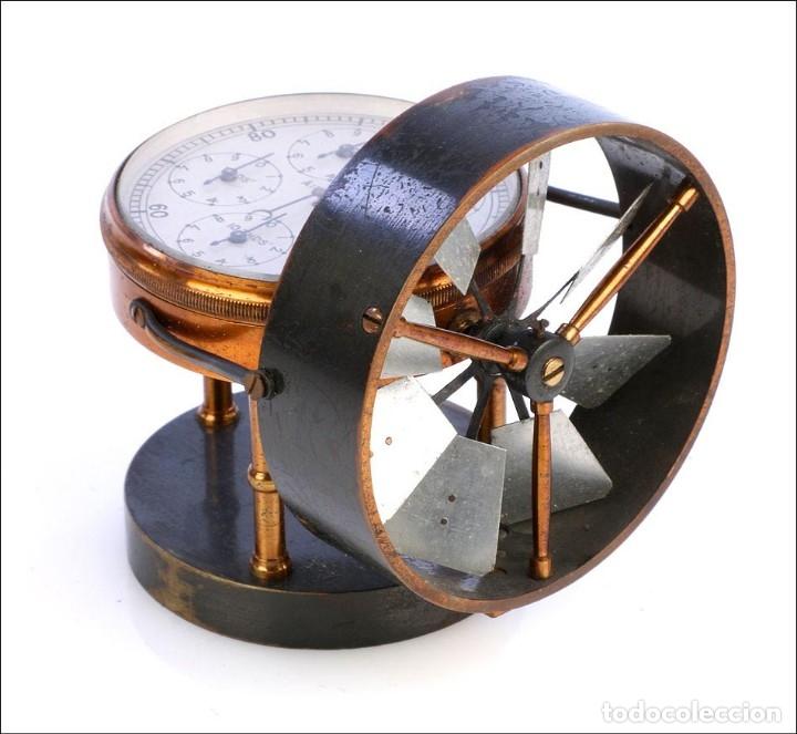 Antigüedades: Antiguo Anemómetro en su Estuche. Inglaterra, Circa 1900 - Foto 2 - 177184439