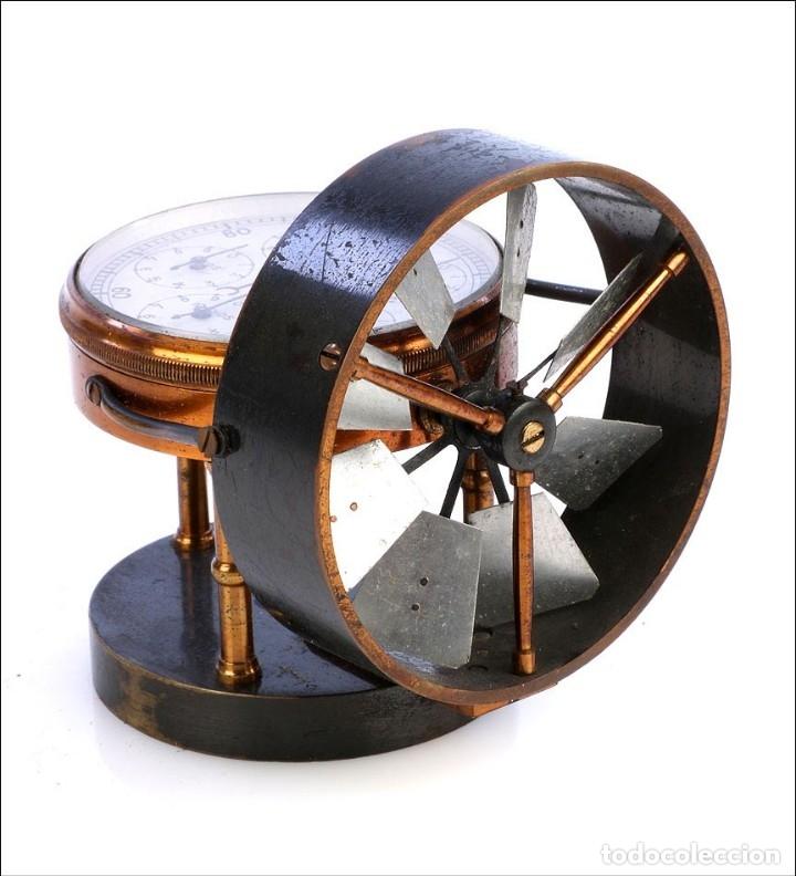 Antigüedades: Antiguo Anemómetro en su Estuche. Inglaterra, Circa 1900 - Foto 4 - 177184439
