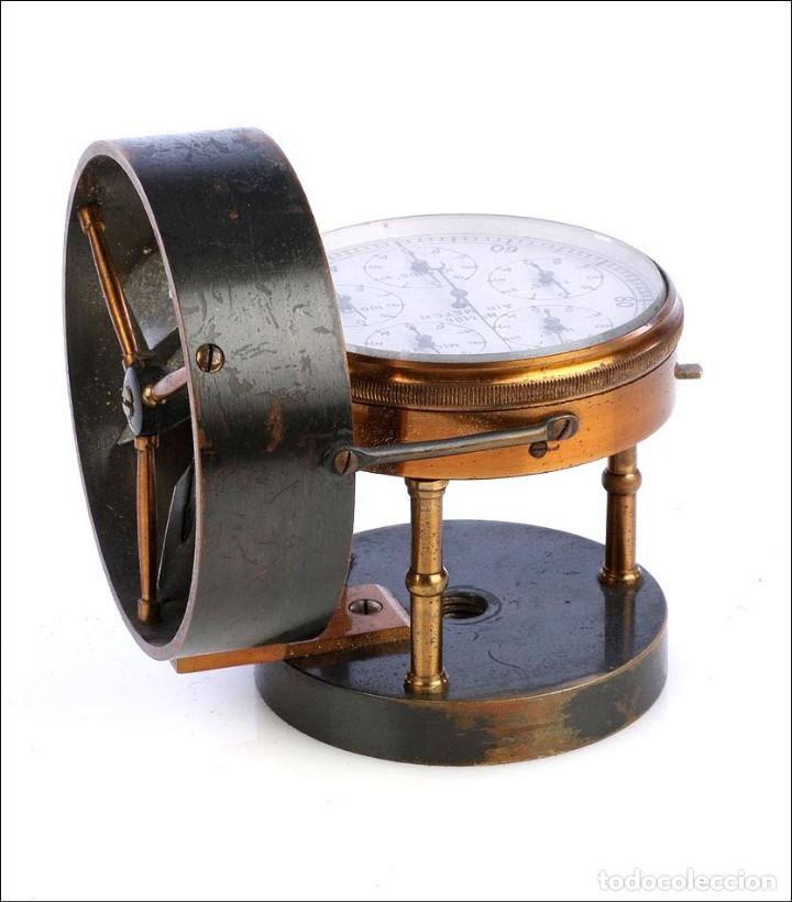 Antigüedades: Antiguo Anemómetro en su Estuche. Inglaterra, Circa 1900 - Foto 5 - 177184439