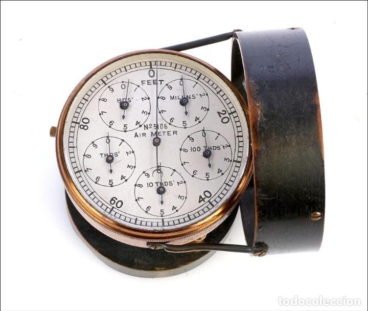 Antigüedades: Antiguo Anemómetro en su Estuche. Inglaterra, Circa 1900 - Foto 7 - 177184439