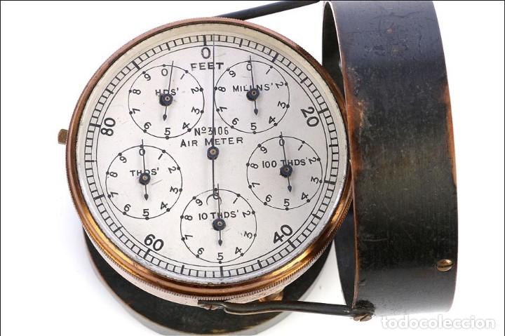 Antigüedades: Antiguo Anemómetro en su Estuche. Inglaterra, Circa 1900 - Foto 8 - 177184439