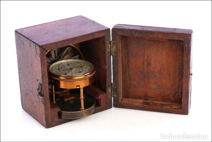 Antigüedades: Antiguo Anemómetro en su Estuche. Inglaterra, Circa 1900 - Foto 10 - 177184439
