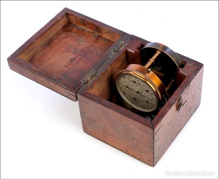 Antigüedades: Antiguo Anemómetro en su Estuche. Inglaterra, Circa 1900 - Foto 11 - 177184439
